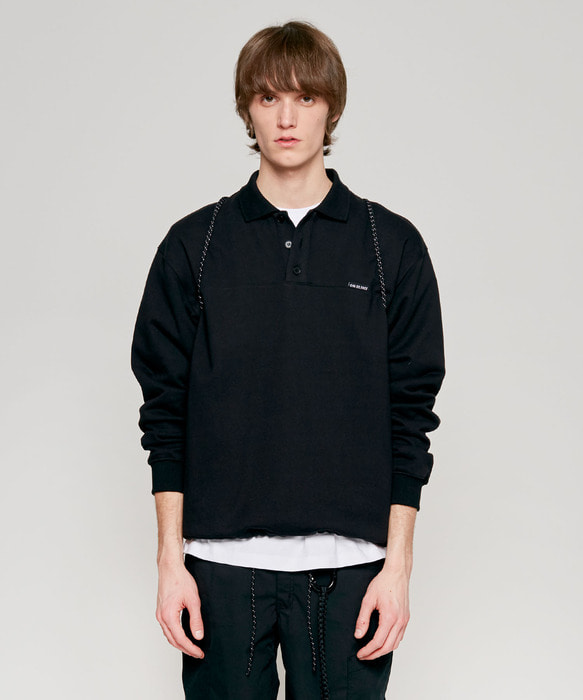 COLLAR SWEATSHIRT black